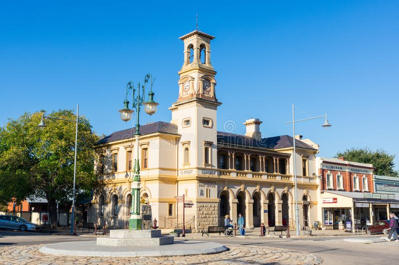 Historic stone post office in Beechworth in Victoria, Australia stock photo