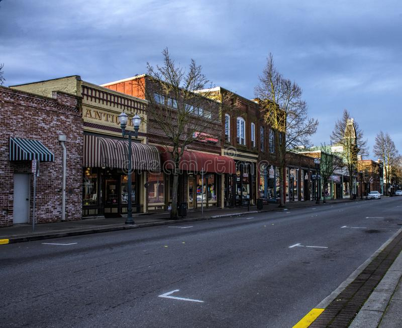 Historic Storefronts in Grants Pass, Oregon. Grants Pass is a city in, and the county seat of, Josephine County, Oregon, United States.Grants Pass was named in stock photo