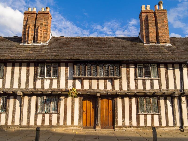 Historic Houses in Stratford on Avon. Historic Tudor houses in Shakespeares Stratford on Avon. Warwickshire, England, UK royalty free stock image