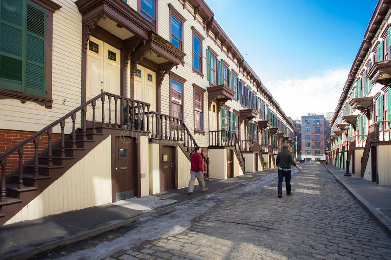 Historic Street in New York City royalty free stock photography