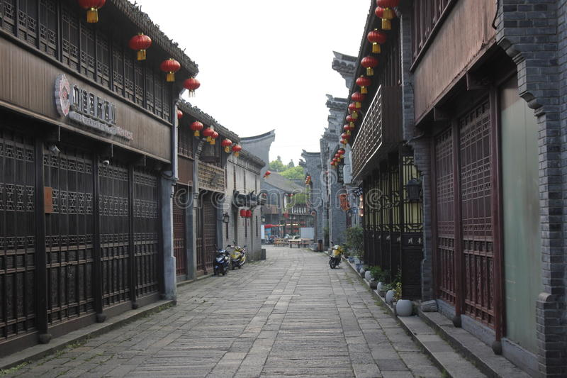 The historic street and traditional building in Meiwan Street(Jiaxing,Zhejiang). The historic street and building in Meiwan Street(Jiaxing,Zhejiang stock photography