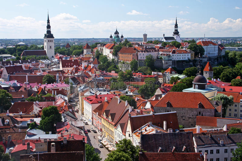 Download Historic Tallinn stock image. Image of horizon, landscape - 20708405