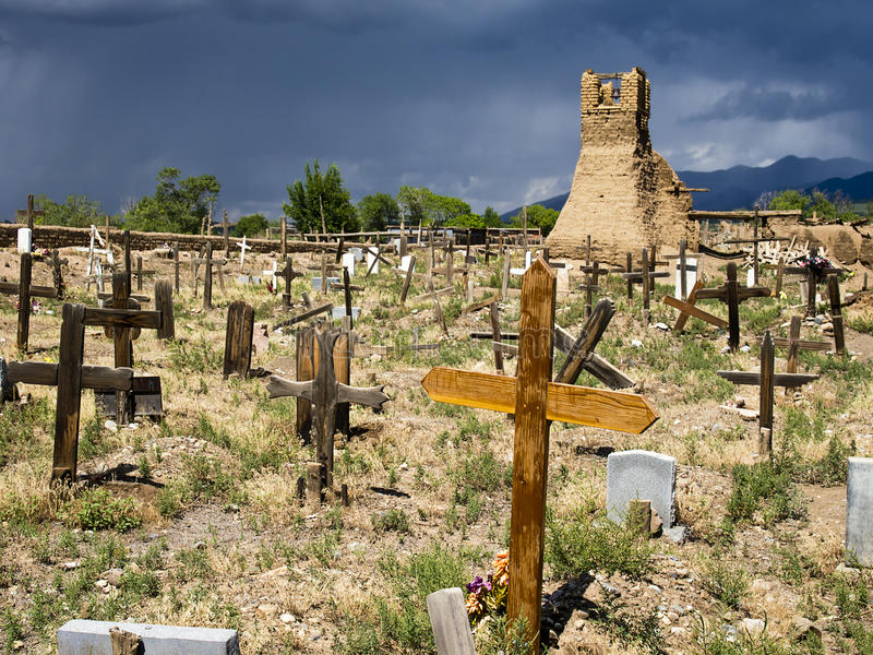 Historic Taos Cemetery royalty free stock image