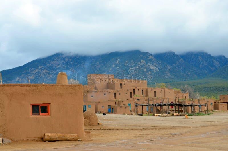 The historic Taos Pueblo stock photos