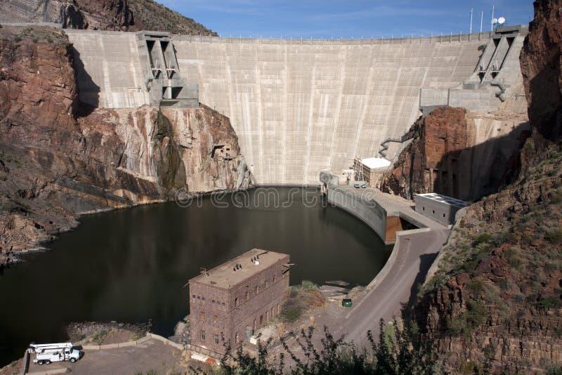 Historic Theodore Roosevelt Arizona Dam royalty free stock photo