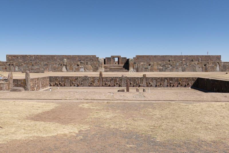 Tiwanaku ruins in Bolivia, South America. Historic Tiwanaku ruins in Bolivia, South America stock image