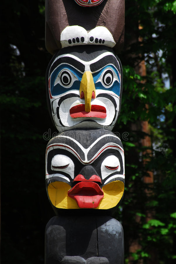 Download Historic totem pole stock photo. Image of lively, indian - 5393060