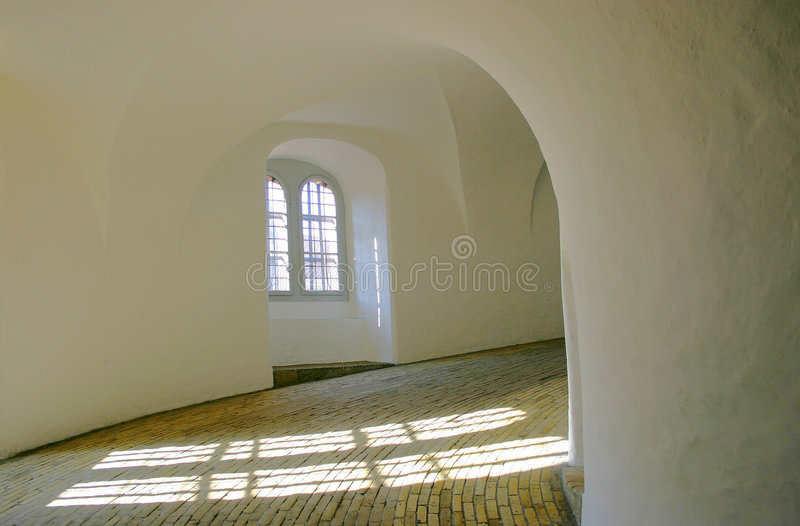 Historic tower from inside stock image