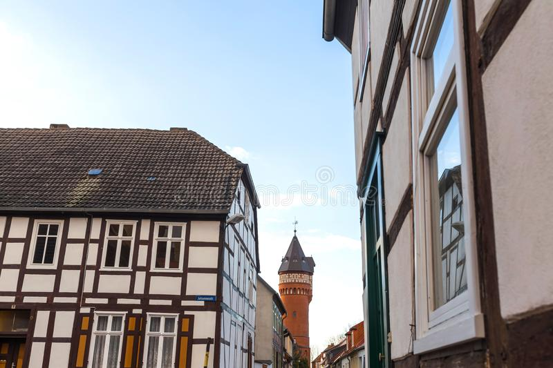 Historic town burg near magdeburg germany. The historic town burg near magdeburg germany royalty free stock images