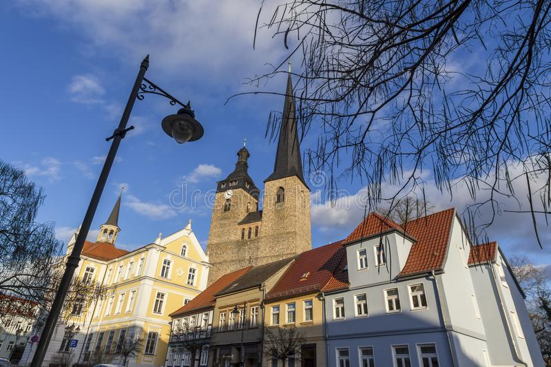 Historic town burg near magdeburg germany. The historic town burg near magdeburg germany stock photo