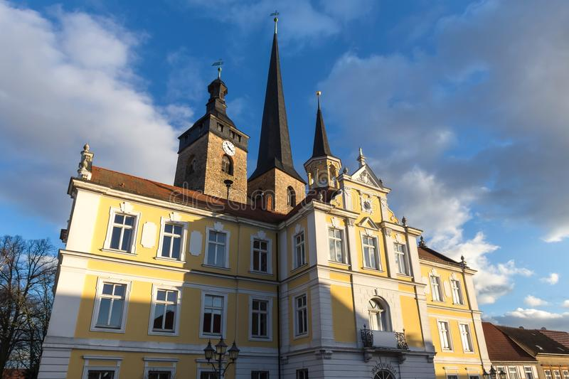 Historic town burg near magdeburg germany. The historic town burg near magdeburg germany stock image