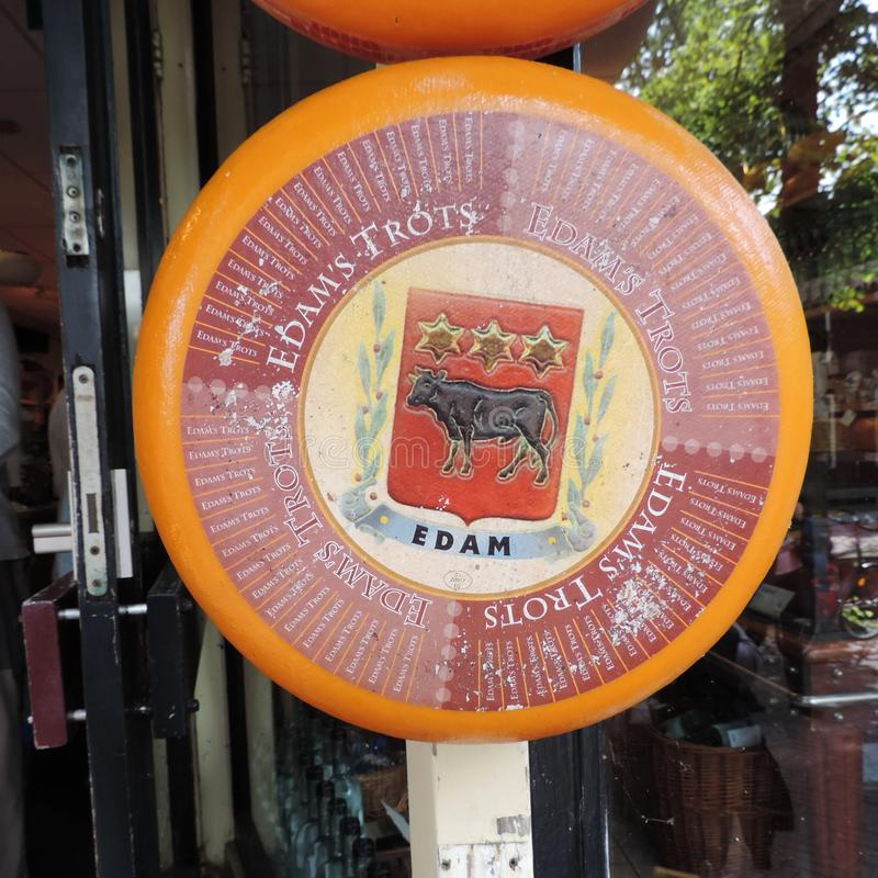 Historic town of Edam - Origin of the famous Edamer Cheese royalty free stock photography