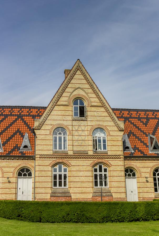 Historic town hall building in the center of Kappeln. Germany stock photos