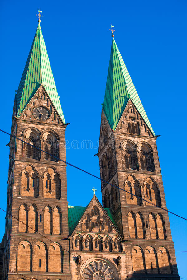 Historic town hall and the cathedral in Bremen,. Historic town hall and the cathedral in Bremen stock images