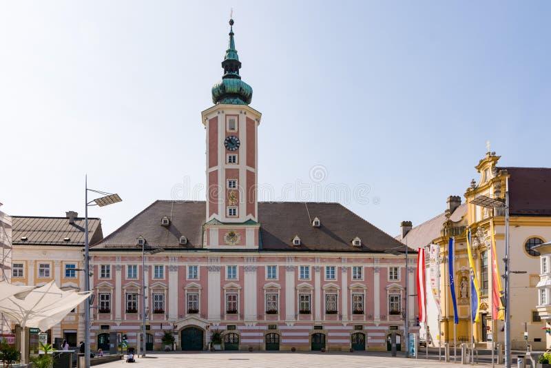 Historic town hall of Sankt Pölten royalty free stock photo