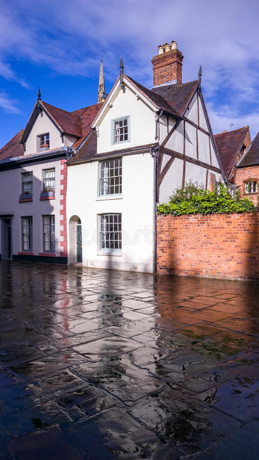 Historic Town Houses in England stock image
