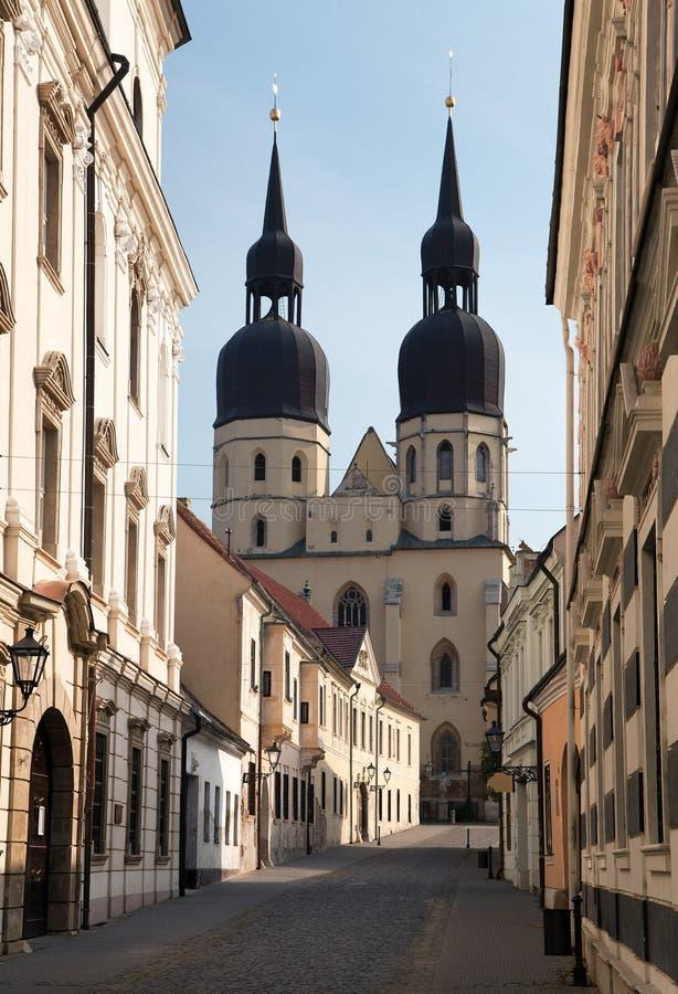 Historic town Trnava, Beautiful city in Slovakia. View from historic town Trnava, Beautiful city in Slovakia stock images