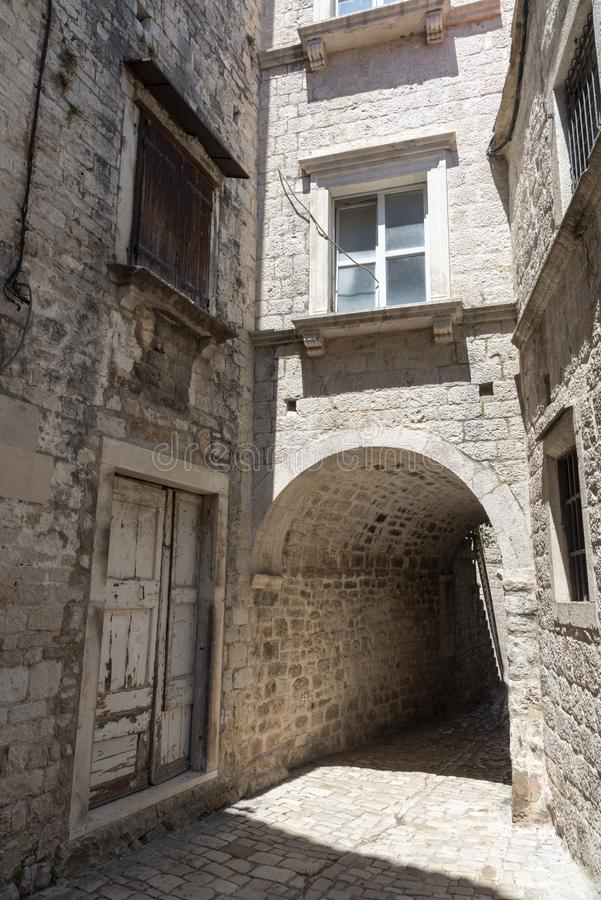 Historic town Trogir in Croatia royalty free stock photo