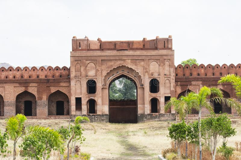Historic Traders Protection Sarai Fort in Central India. Near Mandav, Madhya Pradesh stock photography