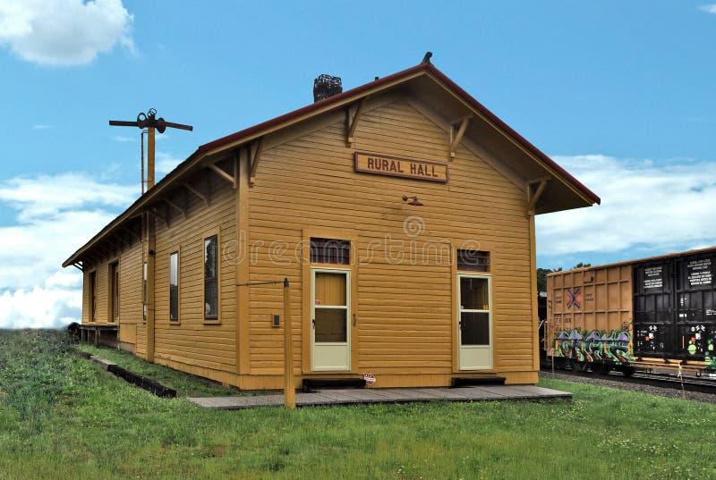 Historic Train Depot in Rural Hall, North Carolina stock photos