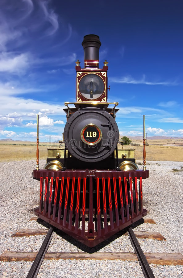 Free Historic Train Golden Spike Stock Photo - 3126070