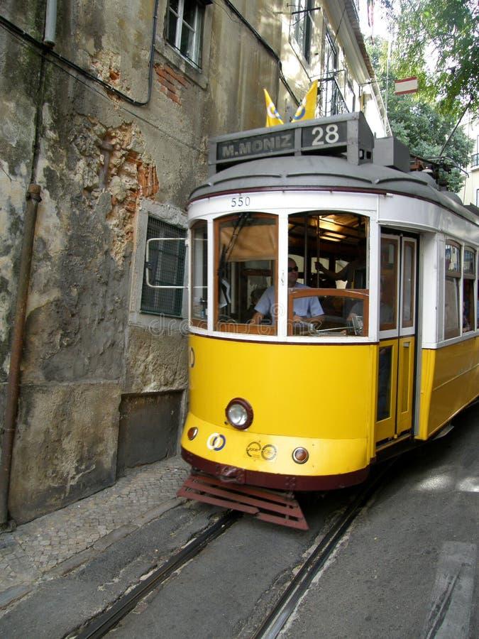 Historic Tram in lisbon. The Number 28 tram that runs through Lisbon, Portugal