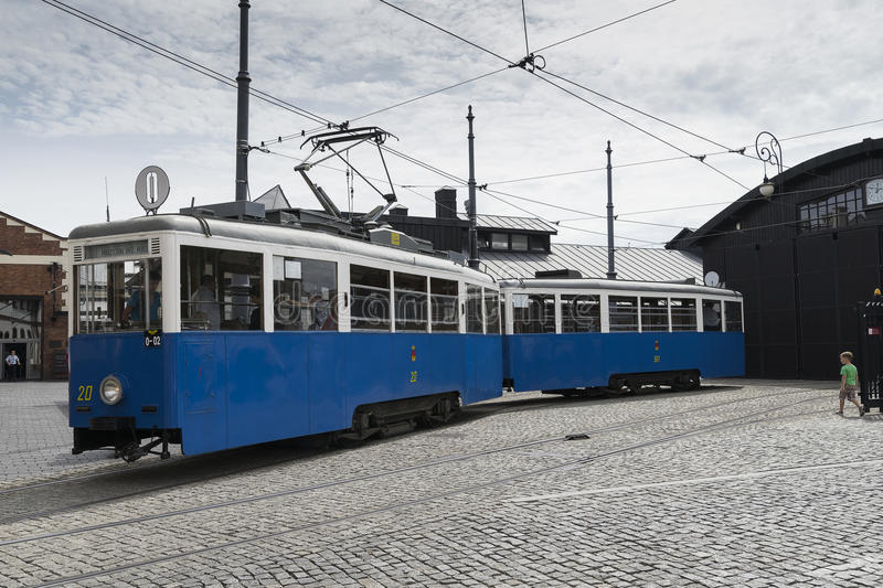 Historic tram stock photography