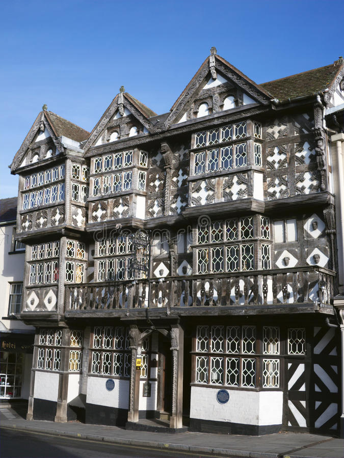 Historic Tudor Hotel, England royalty free stock image