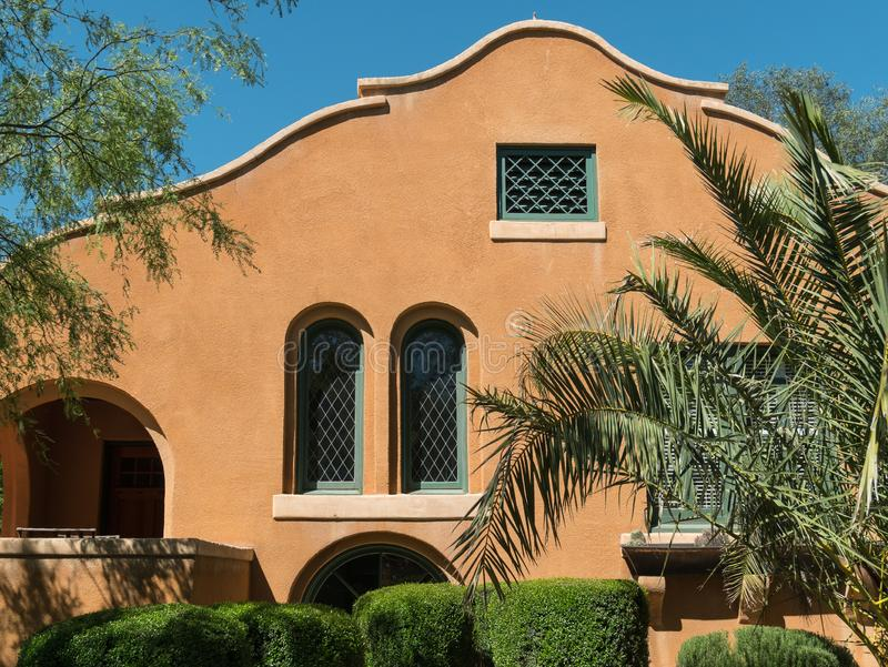 Classic Southwestern design home stock photo