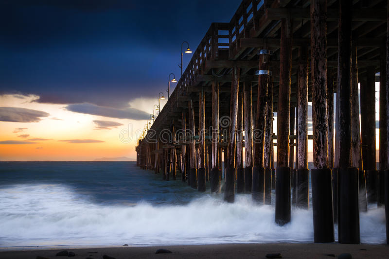 Historic Ventura pier stock photography
