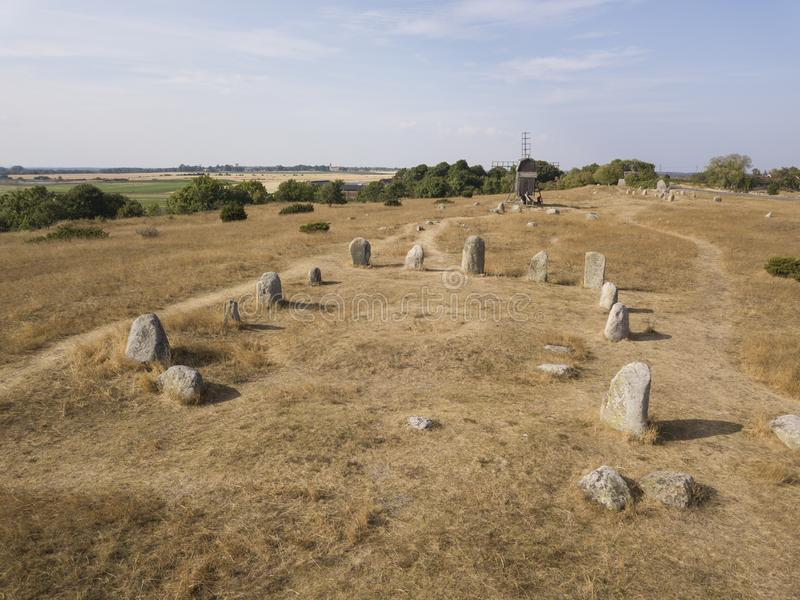 Historic Viking cemetery royalty free stock images
