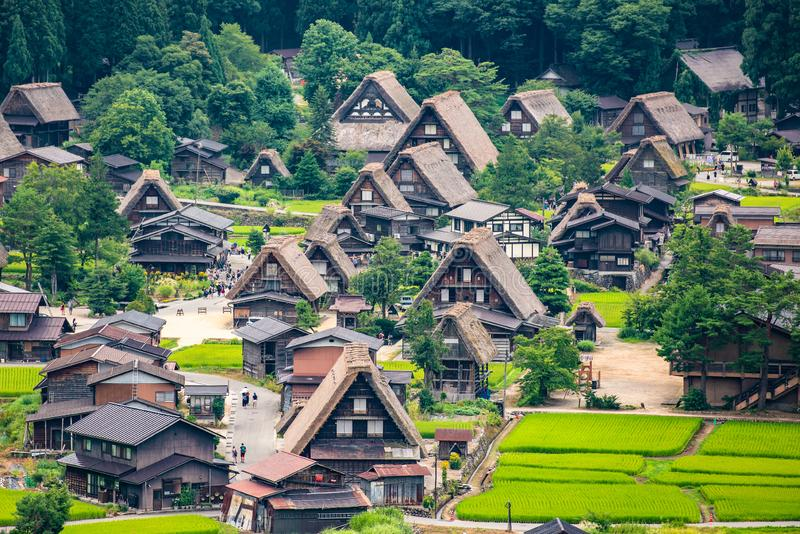 Historic Villages of Shirakawa-go and Gokayama, Shirakawa-mura, Gifu-ken, Japan. Historic Villages of Shirakawa-g and Gokayama, Shirakawa-mura, Gifu-ken, Japan stock photos