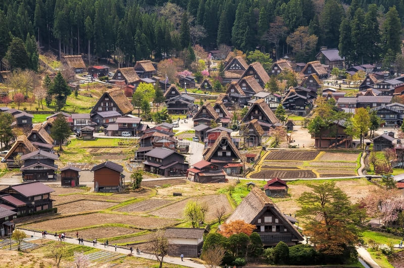 The Historic Villages of Shirakawago royalty free stock photo