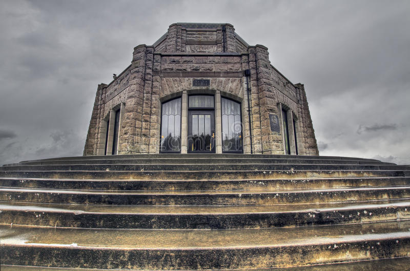 Historic Vista House. On Crown Point Columbia Gorge stock photo