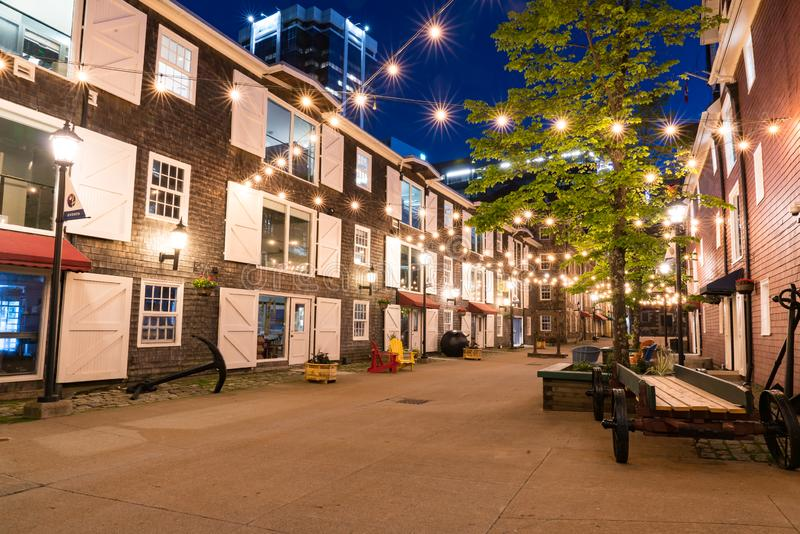 Historic Warehouses Along the Halifax Waterfront royalty free stock photography
