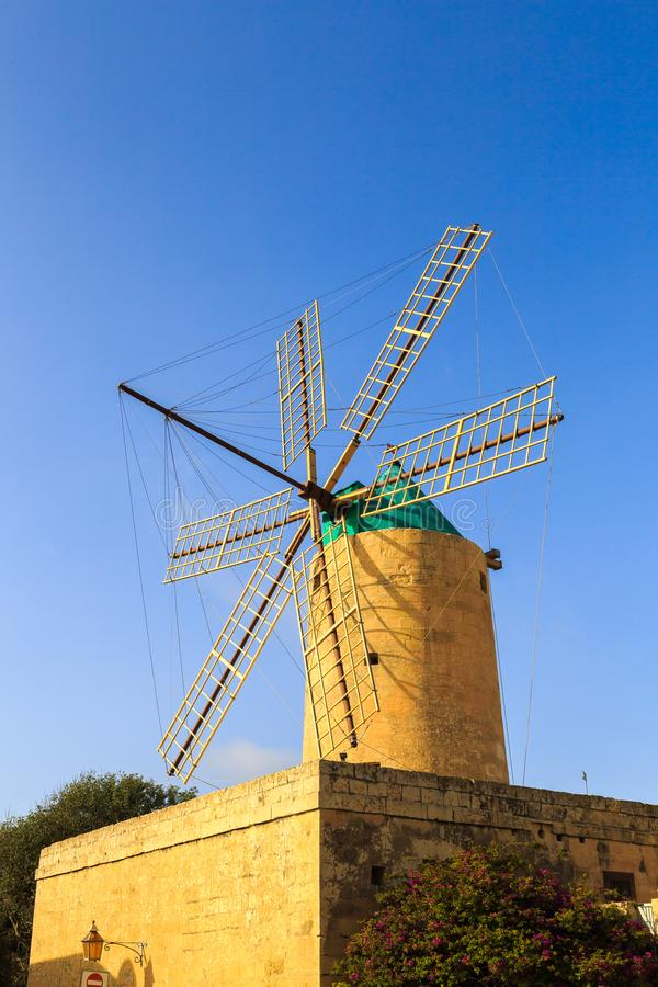 Historic windmill in Southern Europe. Historic windmill on the island of Malta, Europe royalty free stock image