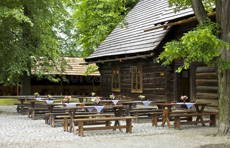 Download Historic wooden pub stock photo. Image of museum, flowers - 8347506