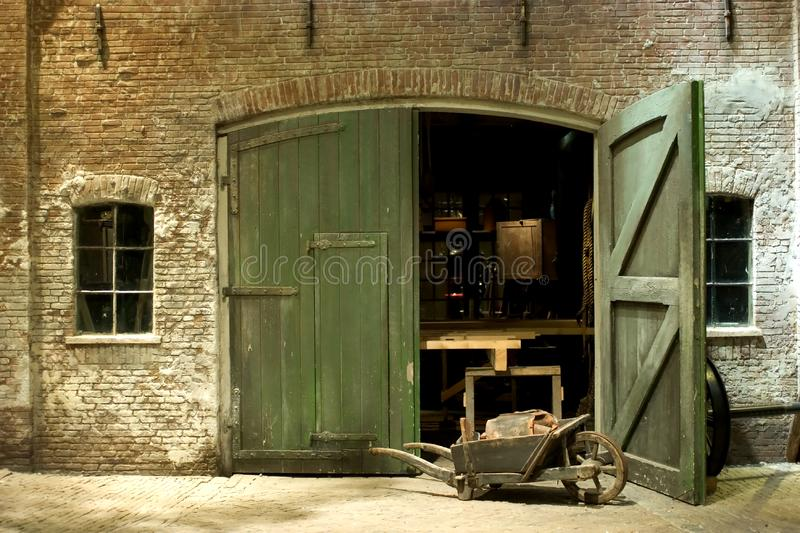 Download Historic workshop stock photo. Image of tools, exterior - 9689402