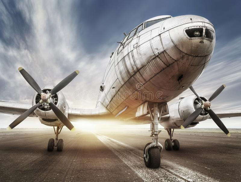 Download Historical airplane stock image. Image of detail, propeller - 109091063