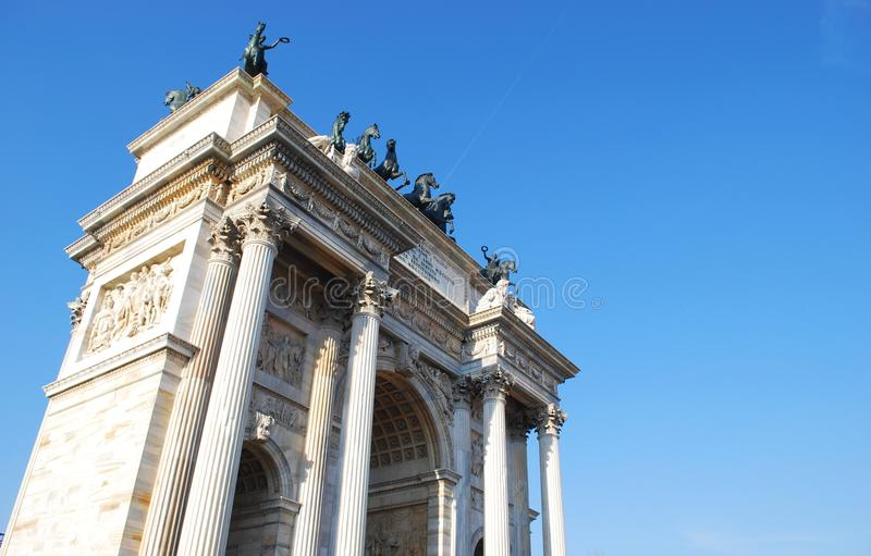 Historical arch royalty free stock photography