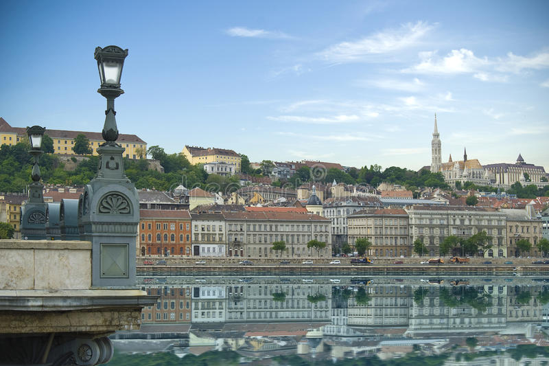 Historical architecture of Budapest, Hungary royalty free stock photography
