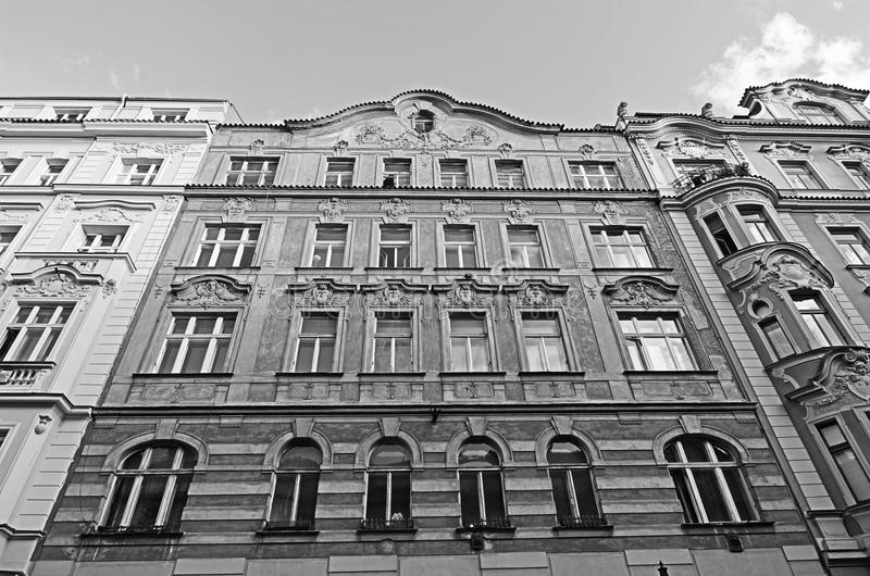 Historical architecture in Prague royalty free stock photography