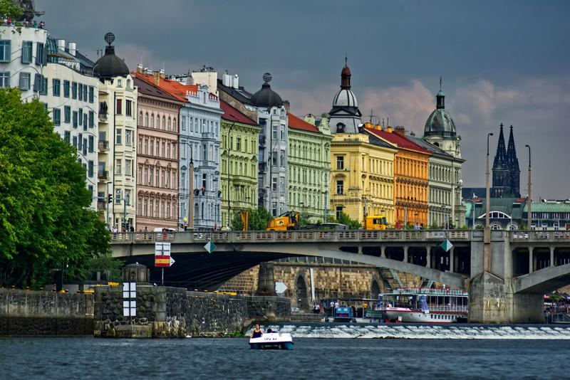 Historical architecture in Prague royalty free stock photos