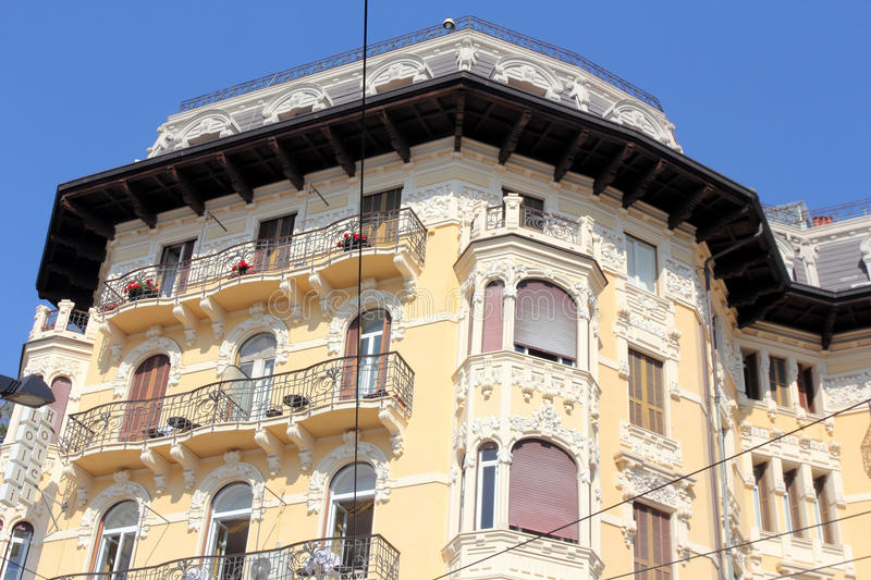 Historical architecture of San Remo, Italy. Historical architecture of San Remo, Liguria, Italy stock photo