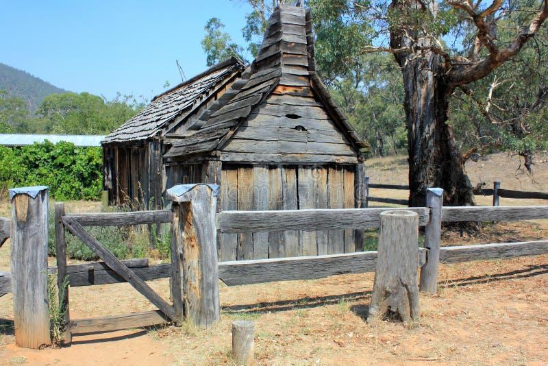 Historical Australian settlers school house royalty free stock photos