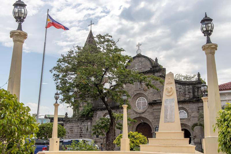 Historical Barasoain Church Our Lady of Mt. Carmel Parish, Malolos City, Bulacan. Philippines royalty free stock photos