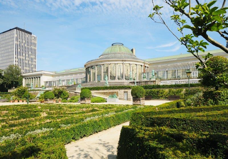 Download Botanique Garden In Center Of Brussels Stock Photo   Image Of  Benelux, Facade: