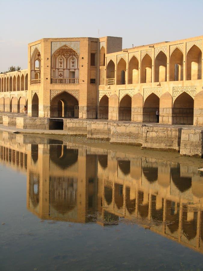 Khadju Bridge in Isfahan royalty free stock images