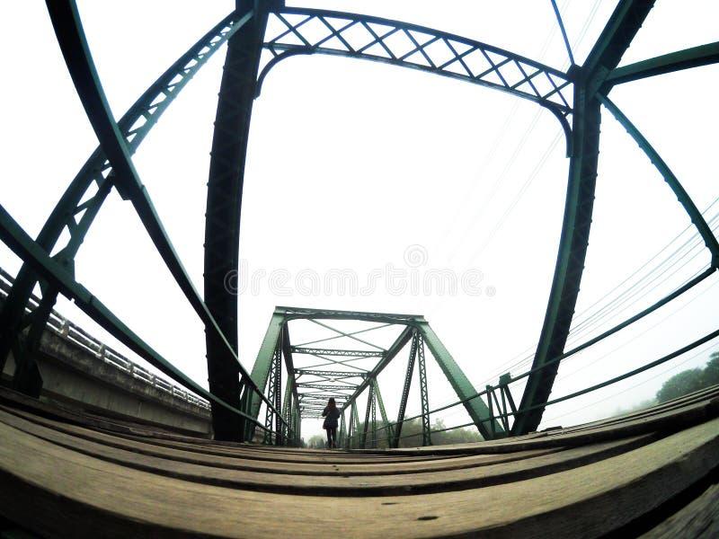Historical bridge at Pai. Pai In Love at Maehongsorn Thailand royalty free stock image