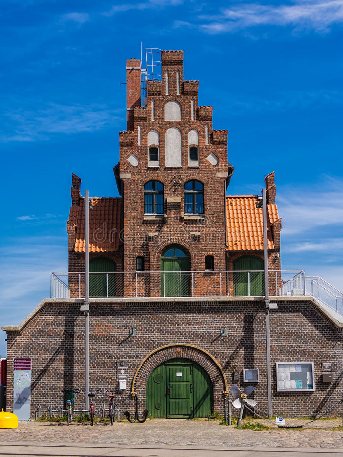 Historical building. In Stralsund (Germany stock photo